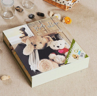 Free shipping Big 4d 6 200 baby photo album box gift photo album bear photo album