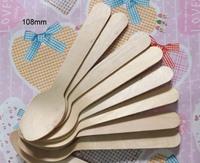 Mudao fork spoon disposable tableware wool west tableware 108mm wooden spoon