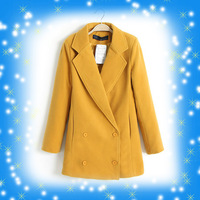 Autumn and winter women loose medium-long cashmere woolen outerwear overcoat zara2013