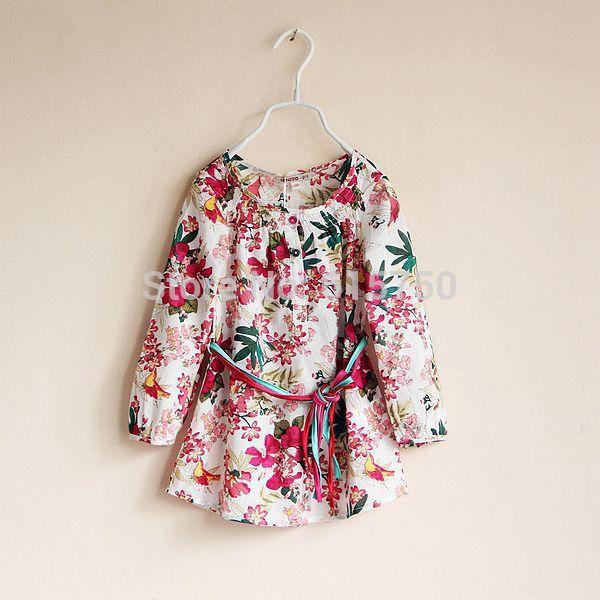 [Super Deal] 2014 Summer new baby girl print dress brand children princess dresses,designer kids floral girls dress, 3-10Y(China (Mainland))