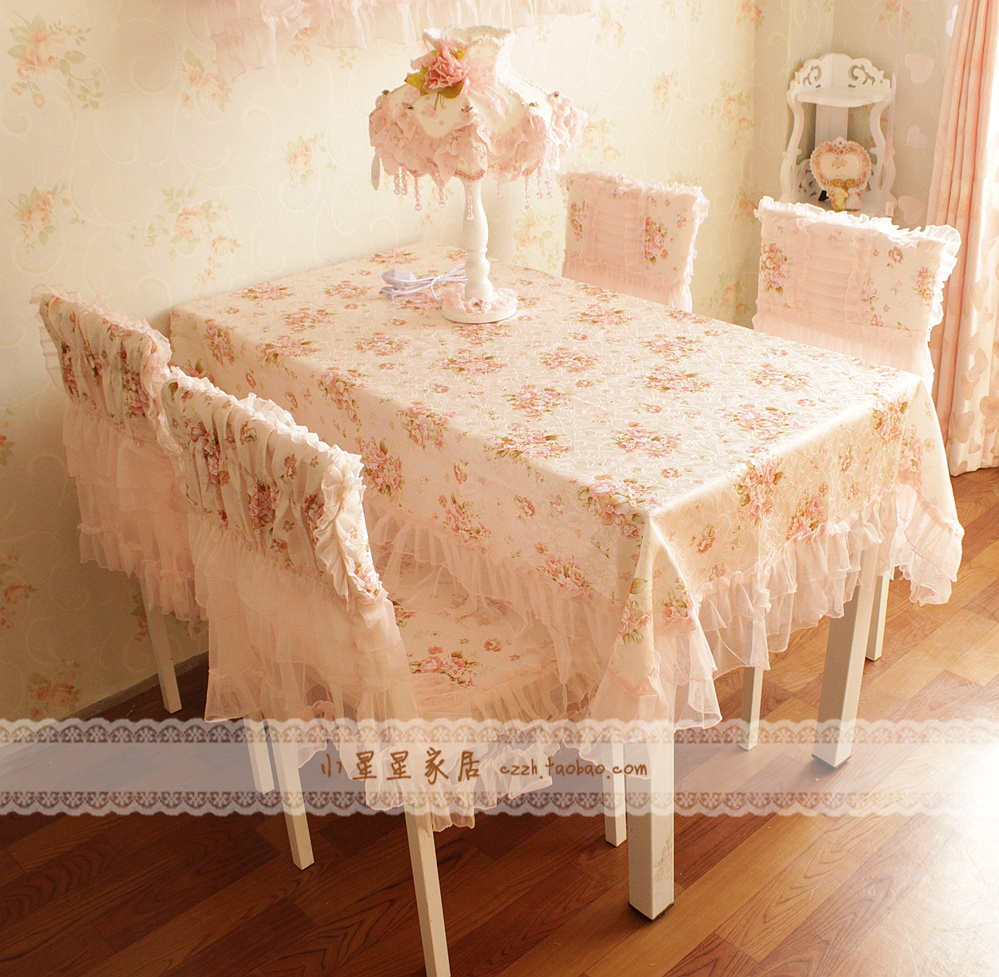 Set Lace Cloth Dining Chair Set Chair Covers Back Cover Cushion Dining Chair