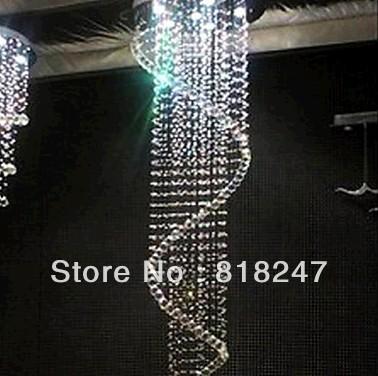 Grátis frete contemporânea Spiral 4 lustre bola de cristal pendurado lâmpadas para moderna iluminação da escada(China (Mainland))