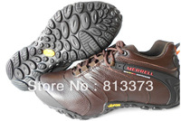 2014 free shipping new Genuine leather Hiking shoes men's Outdoor hiking shoes sneakers Waterproof shoes atheletic sport shoes