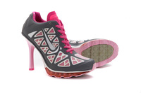 hot!Free Shipping 2014 New Design with Tag Women  High Heel Boots Shoes and Sports High Heels,white/pink/grey ,eur size :36-41