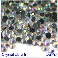 DMC hot fix rhinestone 14400pcs / lot  ss6 2mm Crystal AB Color Hotfix Transfer Stones