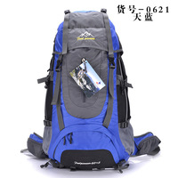 Waterproof 60L+5L nylon Climbing Backpack,Outdoor travel Trekking rucksacks,spinal care Men's Hiking bag