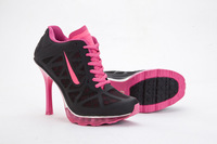 hot!Free Shipping 2013 New Design with Tag Women  High Heel Boots Shoes and Sports High Heels,eur size :36-41  black/pink