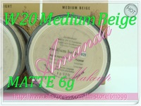 2pcs W20 Medium Beige 6g MATTE Bare Escentuals BareMinerals MINERAL Foundation Broad Spectrum SPF 15 0.21OZ new Click/Lock