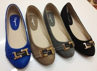 2014Flat casual fashion super comfortable soft-soled shoes large size women