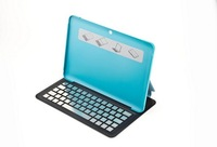"Super slim aluminum alloy keyboard bluetooth keyboard with magnetic case stand cover for Samsung Galaxy Tab 2 10.1"" P5100 P5110"