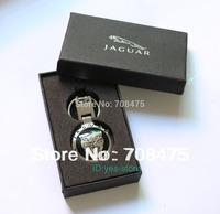 Male Fashion Metal keychain Jaguar car key chain Pendant Ring+ Gift Case Brand New Best Presents