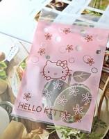 New Arrival Hello Kitty Gift Bag Jewelry Bag Hello Kitty Plastic Storage Bag