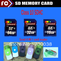 Full Capacity Class10 SDHC 128MB 8GB 16GB 32GB SDXC 64GB SD Card Memory Card+ Card Reader