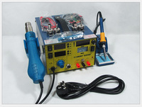 909D Upgrade saike 909D+ 3 in 1 Hot air gun rework station with Soldering station Repair power supply 220V or 110V 700W