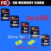 32GB 64GB 128GB SDHC SD Class 10 Memory Card For Digital Camera Computer Retail Box SinRing