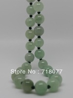 Free shipping! New Natural Light green jade necklace woman