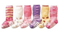 baby knee-high socks 13 baby non-slip socks child socks cotton yarn baby socks