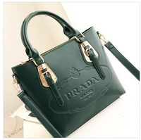 New vogue of new fund of 2013 big bag 1 pce hand the bill of lading shoulder cowhide leather handbag