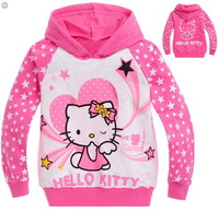 children's hoodies hello kitty long sleeve T shirt girls sweatshirts baby jacket cartoon kids sweaters spring autumn clothing
