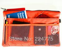 Cosmetic Case ORANGE FASHION SLIM BAG IN BAG INSERT POUCH SHOULDER HANDBAG ORGANIZER PURSE
