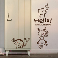 Animal zodiac cartoon wall stickers child real 1 6