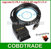 Best Price VAGCOM12.10.3 VAG11.11.4 VCDS12.1 Vagcom11.11 vag12.1 VAGCOM12.10 VAG USB Diagnostic cable OBD2 Scanner Free Shipping