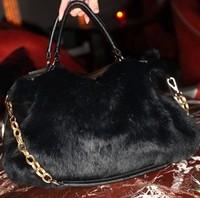 Women's handbag 2014 rabbit fur bag women's one shoulder handbag messenger bag