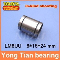 8 mm caliber Standard linear bearings LM8 / LM8UU / LB8UU 8*15*24 mm Linear Ball Bearing Bush Bushing