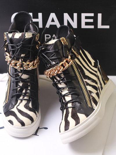 Sapatos Gz grátis frete, moda punk zíper de metal lacing sapatos de couro genuíno, cunhas sapatos único, sapatas das mulheres das sapatilhas(China (Mainland))