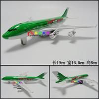1set Green Color 19x16.5x6cm Warrior plain boeing jets green alloy model toy Boys Lovely Light Cool Plane Toys Free Ship
