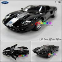1Set  12.5x5x3cm Soft world WARRIOR alloy FORD gt Sports Car Black Alloy Auto Models Toy Alloy Car models Boys Gift Birthday Toy
