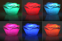 Free shipping Pcs Romantic Living Color Changing LED Rose Lamp Tea Light