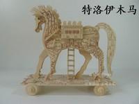 3D model jigsaw puzzle assembled by hand Trojans