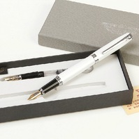 Classic series, pens, calligraphy double nib pen + Drawing pen / pen + EF tip  White, Sky Blue, Pink, Yellow, Black