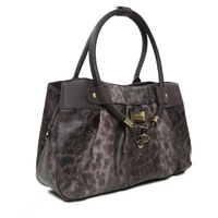 Brief ol formal fashion big bag leopard print bags 2013 autumn hard portable women's round handbag
