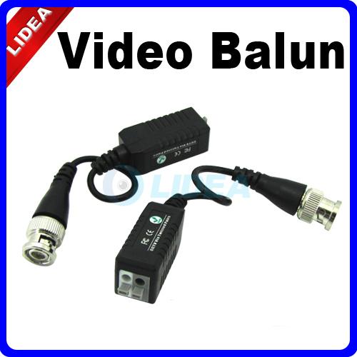 2x UTP Network Video Balun CAT5 to Camera BNC DVR CCTV Accessories HK B-11(China (Mainland))