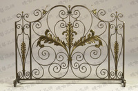 Fashion iron fireplace frame guardrail fireplace security holder screen iron stove fence