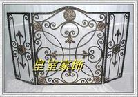 Fashion bronze black color iron stove rack fireplace nets guardrail