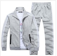 Spring and Autumn new men brand sport suit cotton fashion casual sportswear free shipping