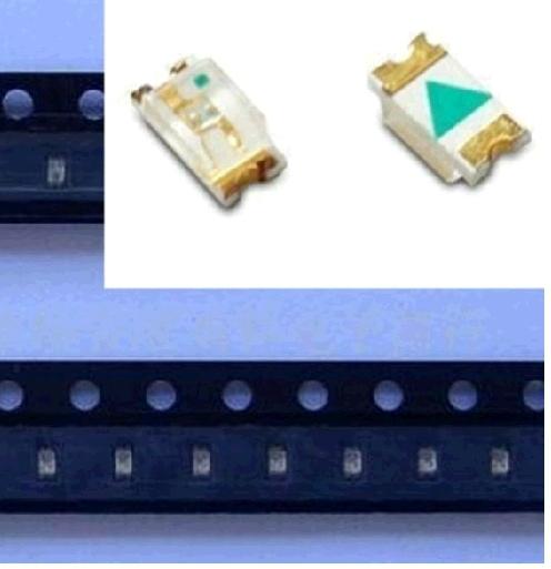 Free shipping 1206 3216 yellow light light-emitting diode SMD LED Lamp bead(China (Mainland))