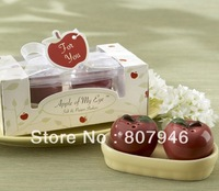 Wedding favor apple Ceramic Salt and Pepper Shakers valentine