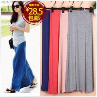 Modal expansion bottom cotton half-length full dress full dress mopping the floor a-line skirt beach dress