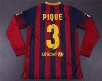 2013-2014 Free Shipping #3 PIQUE bfc home top quality sportswear Soccer Jersey embroidery logo +TV3 t-shirts