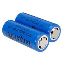 2 шт. TangsFire 5000 мАч 3.7 В 26650 литиевая аккумуляторная батарея + плюс синий