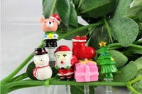Santa claus Phone Accessories Christmas 3.5mm Dust Plug Earphone Plug For Iphone & Ipad & Samsung& HTC,Wholesales