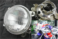 "4.4"" Headlight for Honda Motorcycle Headlamp CBR250 NC19 NC22 CBR NC23 NC29 400CC CBR  VFR NC30 RVF NC35 1pair free shipping"