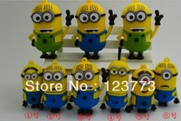 Free shipping cartoon minions set  model usb 2.0 memory flash stick thumb pen drive