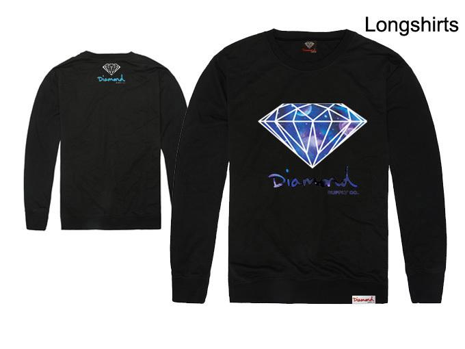 brand famous Diamond T shirt long sleeve shirt New style 100%cotton t-shirts best quality shirt casual o-neck full t shirt(China (Mainland))