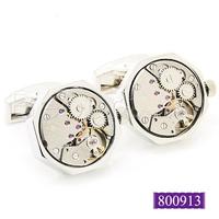 Valentine's day gifts Watch  Cufflinks ,Silver Octagon Watch Movement Cufflinks  -800913  free shipping