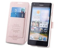 Brand Harbour Side Flip Leather Cover Case For Huawei Ascend G700  Free shipping